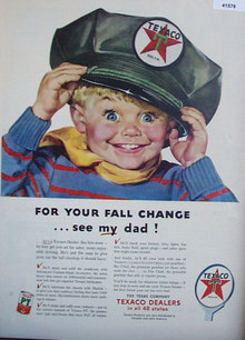 The Texas Co. Texaco 1953 Ad blue eyed boy