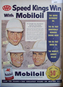Mobiloil Speed Kings 1953 Ad top drivers