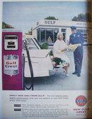 New Gulf Crest Gasoline 1958 Ad