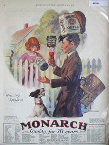Monarch Coffee Tea And Cocoa 1927 Ad