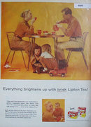 Lipton Tea 1957 Ad family affair
