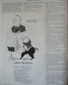 People You Know James Petrillo 1943 Article