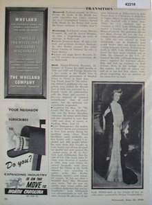 Lady Ribblesdale 1958 Article