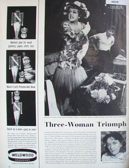 Theater Three Woman Triumph 1961 Article