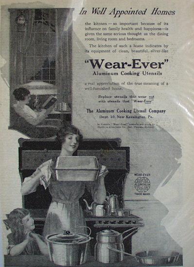 Wear Ever Aluminum Cooking Utensils 1920 Ad
