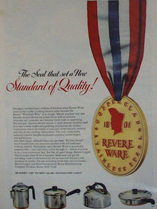 Revere Ware Pots And Pans 1952 Ad