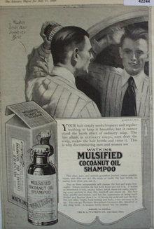 Watkins Mulsified Shampoo 1920 Ad