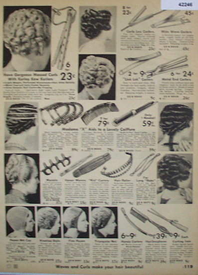 Sears Hair Accessories 1936 Ad