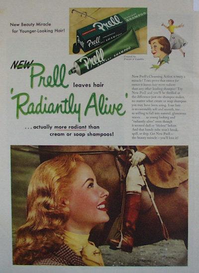 Prell Radiant Shampoo 1952 Ad