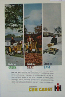 International Harvester Cub Cadet 1963 Ad