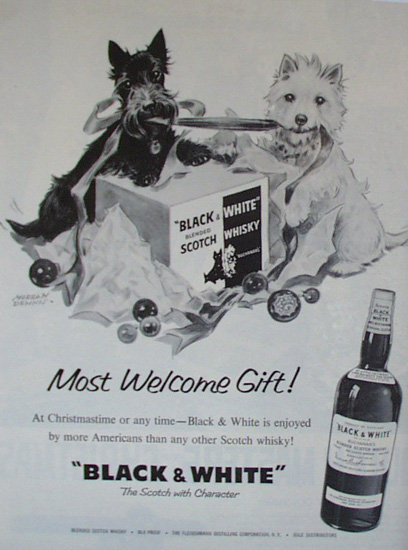 Black And White Scotch Whiskey 1959 Ad
