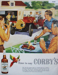 Corbys Blended Whiskey 1953 Ad