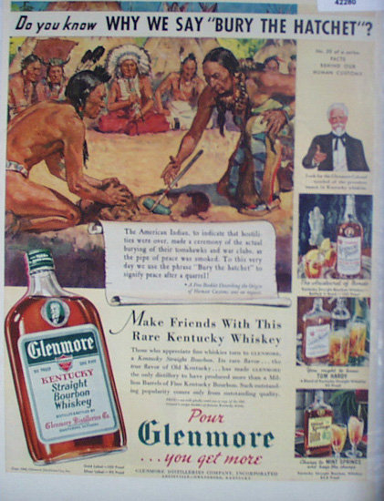 Glenmore Kentucky Whiskey 1940 Ad