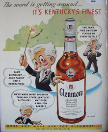 Glenmore Bourbon Whiskey 1950 Ad