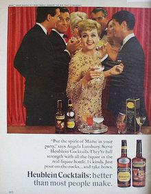 Heublein Manhattan Cocktails 1966 Ad.