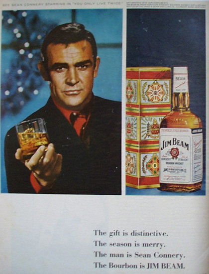 Jim Beam Bourbon Whiskey 1966 Ad.