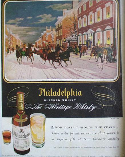 Philadelphia Blended Whisky 1948 Ad