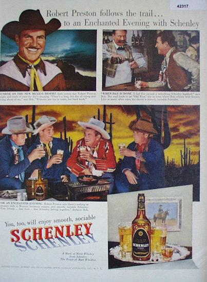 Schenley Reserve Whiskey 1950 Ad