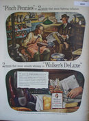 Walkers Deluxe Bourbon Whiskey 1944 Ad