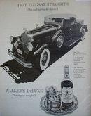 Walkers DeLuxe Bourbon Whiskey 1971 Ad pierce arrow