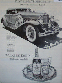 Walkers DeLuxe Bourbon Whiskey 1971 ad