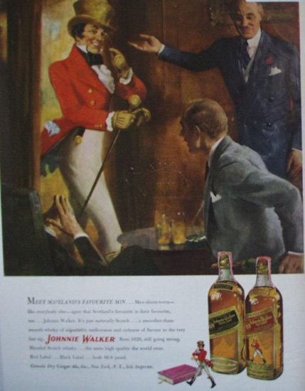 Johnnie Walker Scotch Whisky 1950 Ad