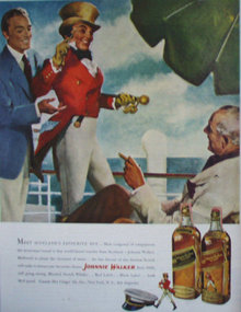 Johnnie Walker Blended Scotch Whisky 1949 Ad