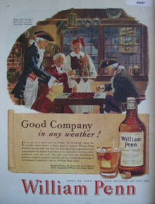 William Penn Blended Whiskey 1947 Ad checkers