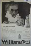 Williams Shaving Cream 1920 Ad