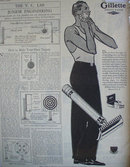 Gillette Safety Razor 1929 Ad.