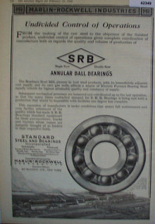 Aannular Ball Bearings 1920 Ad.