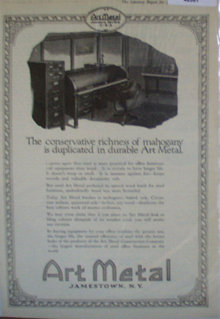 Art Metal 1920 Ad office furniture