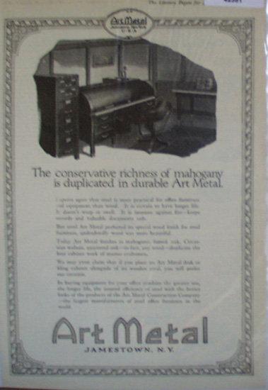 Art Metal 1920 Ad office furniture