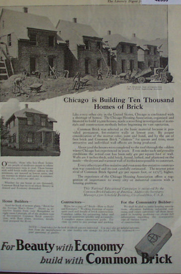 Common Brick 1920 Ad