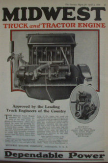 Midwest Truck And Tractor Engine 1920 Ad