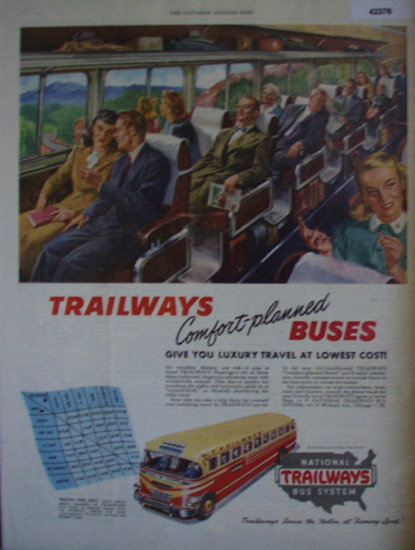 Trailways Bus System 1948 Ad