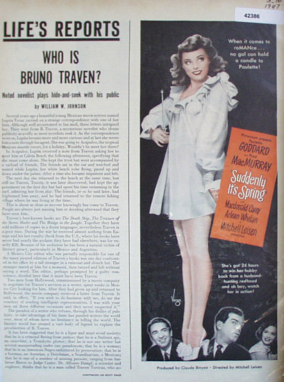 Movie Suddenly Its Spring 1947 Ad.