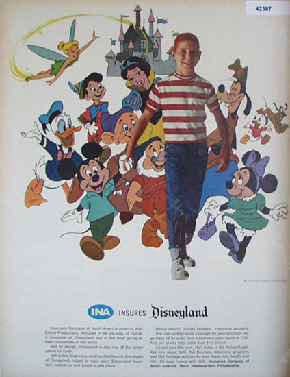 Insurance Co. Of North America 1964 Ad Walt Disney
