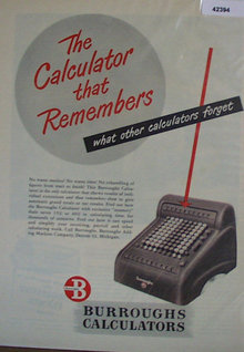 Burroughs Calculators 1948 Ad