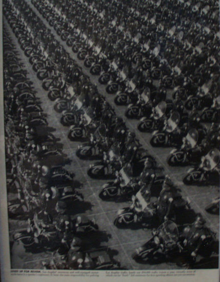 L.A. Motorcycle Corps Patrol 1949 Article