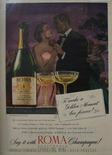 Roma Champagne 1947 Ad