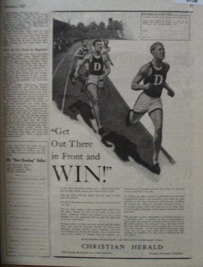 Christian Herald Magazine 1927 Ad