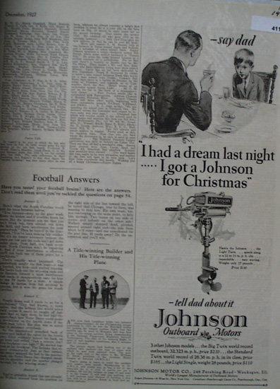 Johnson Motor Co. 1927 Ad