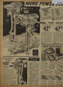 Sears Catalog Boat Motor 1938 Ad.