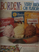 Bordens Ice Cream 1960 Ad