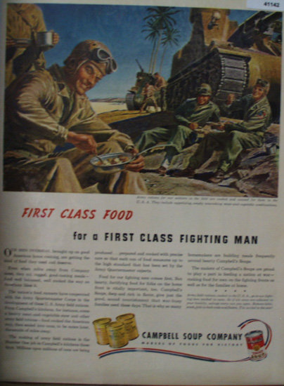 Campbell Soup Company Army Rations 1943 Ad