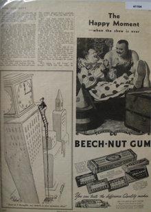 Beech Nut Gum 1937 Ad