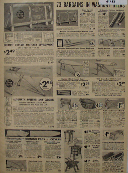Sears Washing Needs 1938 Ad