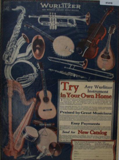 Wurlitzer Instruments 1926 Ad
