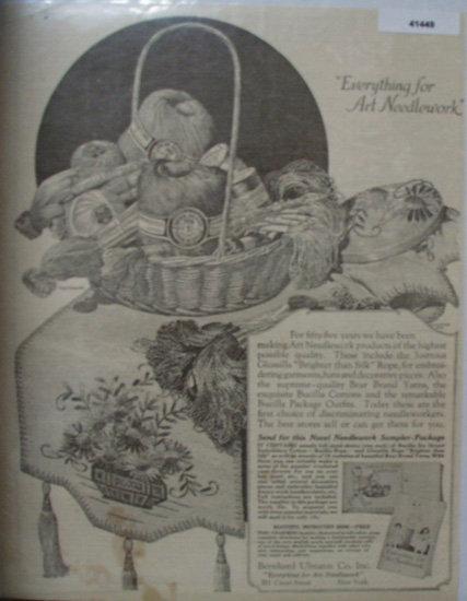 Bernhard Ulmann Co. Art Needlework 1922 Ad